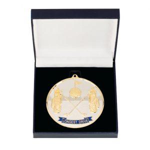 Prestige Longest Drive Golf Medal & Box 70mm
