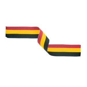 Medal Ribbon Red Yellow & Black 395x22mm