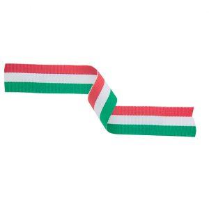Medal Ribbon Green, White & Red 395x22mm