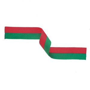 Medal Ribbon Red & Green 395x22mm