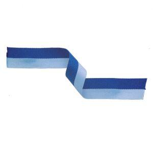 Medal Ribbon Light Blue & Blue 395x22mm