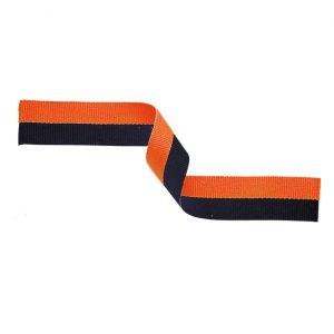 Medal Ribbon Orange & Black 395x22mm