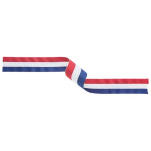 Medal Ribbon Red/White/Blue 395x10mm
