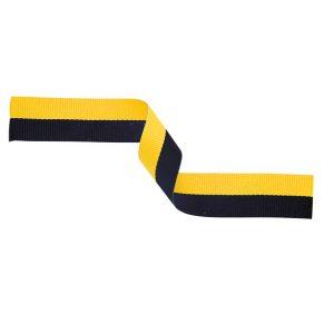 Medal Ribbon Black & Yellow 395x22mm