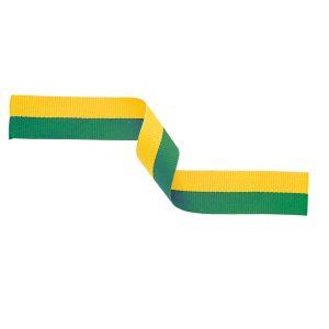 Medal Ribbon Green & Yellow 395x22mm