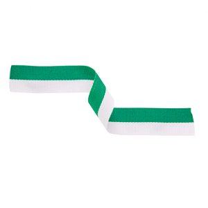 Medal Ribbon Green & White 395x22mm