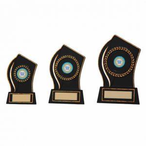 Quest Black Plastic Plaque Award
