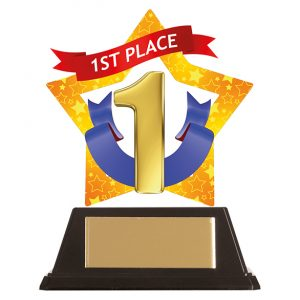 Mini-Star 1st Place Acrylic Plaque 100mm