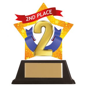 Mini-Star 2nd Place Acrylic Plaque 100mm