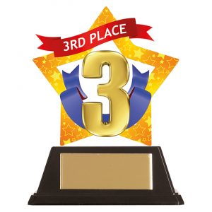 Mini-Star 3rd Place Acrylic Plaque 100mm