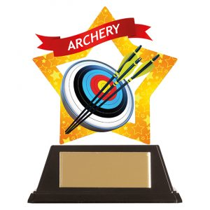 Mini-Star Archery Acrylic Plaque 100mm