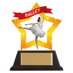 Mini-Star Ballet Acrylic Plaque 100mm