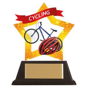 Mini-Star Cycling Acrylic Plaque 100mm