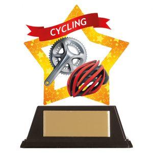 Mini-Star Cycle & Helmet Acrylic Plaque 100mm