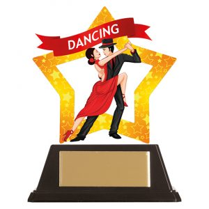 Mini-Star Ballroom Dance Acrylic Plaque 100mm