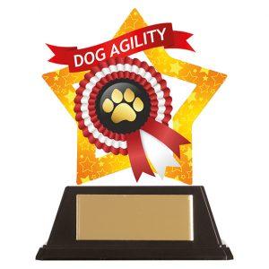 Mini-Star Dog Paw Acrylic Plaque 100mm