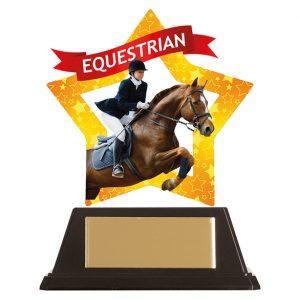 Mini-Star Equestrian Acrylic Plaque 100mm