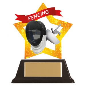 Mini-Star Fencing Acrylic Plaque 100mm