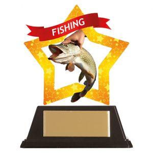 Mini-Star Fishing Acrylic Plaque 100mm