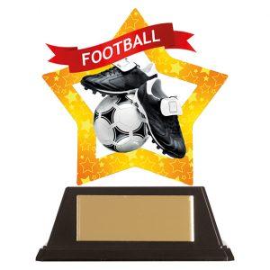 Mini-Star Football Acrylic Plaque 100mm