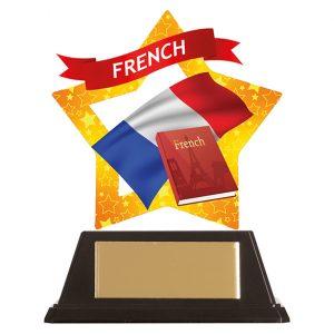Mini-Star French Acrylic Plaque 100mm