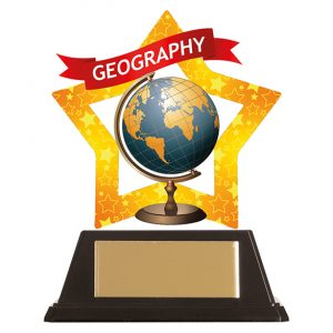 Mini-Star Geography Acrylic Plaque 100mm
