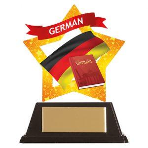 Mini-Star German Acrylic Plaque 100mm
