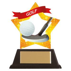 Mini-Star Golf Acrylic Plaque 100mm