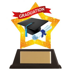 Mini-Star Graduation Acrylic Plaque 100mm
