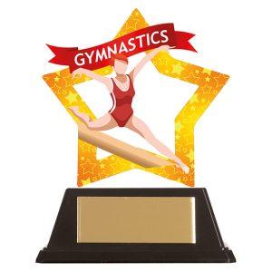 Mini-Star Gymnastics Acrylic Plaque Female 100mm