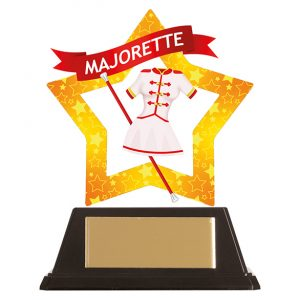 Mini-Star Majorette Acrylic Plaque 100mm