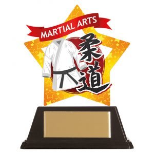 Mini-Star Judo Acrylic Plaque 100mm