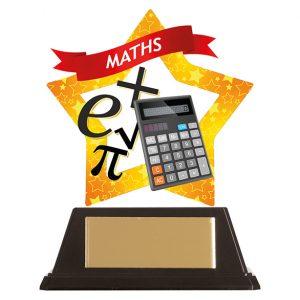 Mini-Star Maths Acrylic Plaque 100mm