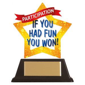 Mini-Star Participation Acrylic Plaque 100mm
