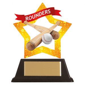 Mini-Star Rounders Acrylic Plaque 100mm