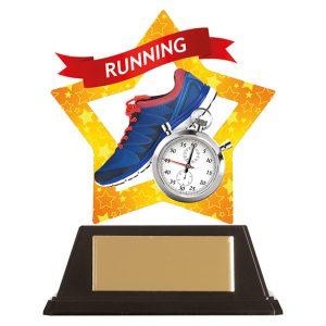 Mini-Star Running Acrylic Plaque 100mm