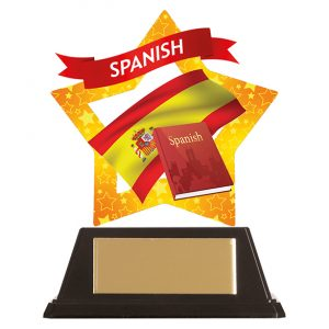 Mini-Star Spanish Acrylic Plaque 100mm