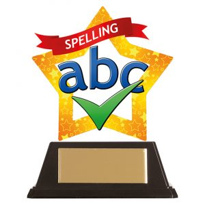 Mini-Star Spelling Acrylic Plaque 100mm