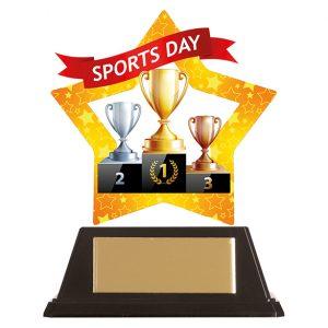 Mini-Star Sports Day Acrylic Plaque 100mm