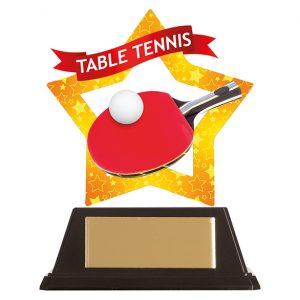 Mini-Star Table Tennis Acrylic Plaque 100mm