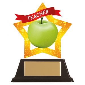 Mini-Star Teacher Acrylic Plaque 100mm