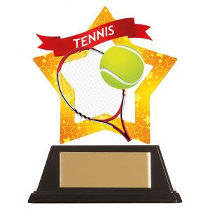 Mini-Star Tennis Acrylic Plaque 100mm