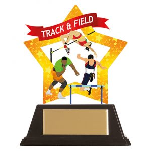 Mini-Star Track & Field Acrylic Plaque 100mm