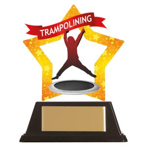 Mini-Star Trampolining Acrylic Plaque 100mm