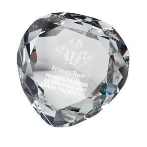 Venus Optical Crystal Paperweight 80mm
