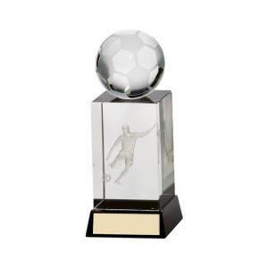 Sterling Football Crystal Award 145mm