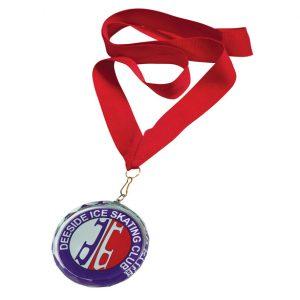 Imperial Jade Glass Medal 70mm