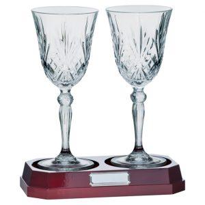 Lindisfarne St Joseph Crystal Wine Glasses 220mm