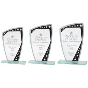 Cosmic Mirror Glass Award Black & Silver