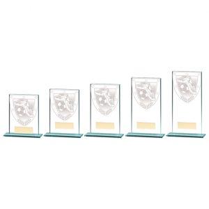 Millennium Football Boot & Ball Jade Glass Award